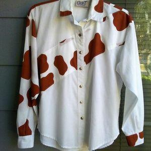 Moo Cow Pattern Shirt